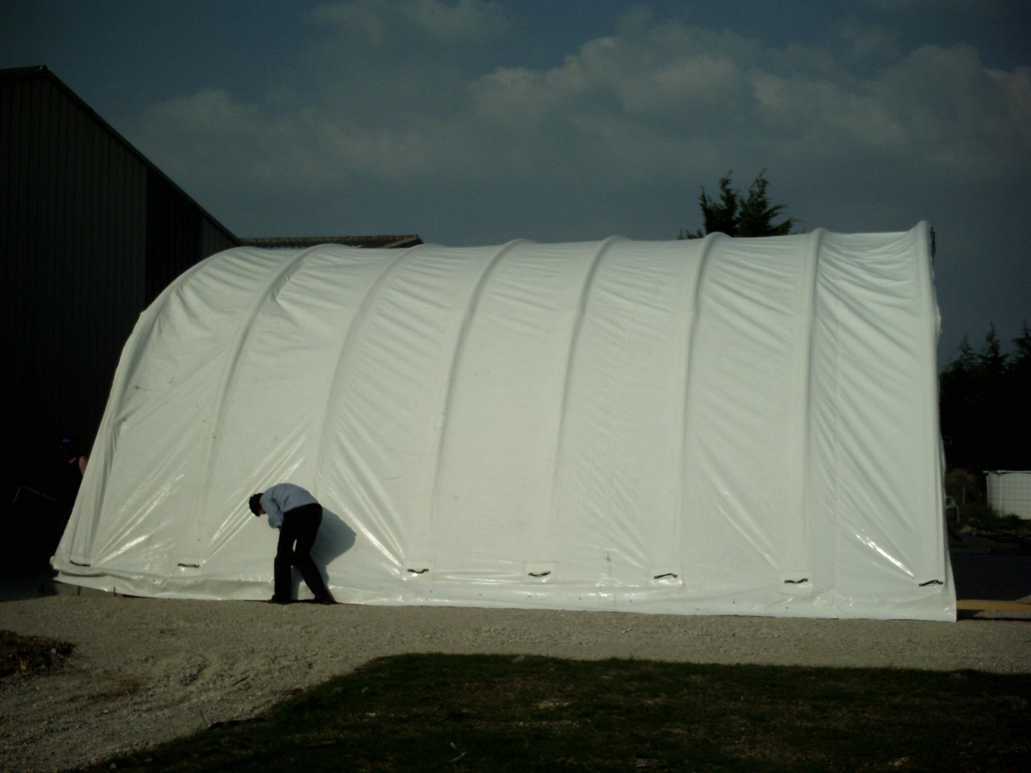 Hangar gonflabe industriel avion ulm h licopt re for Permis de construire agricole